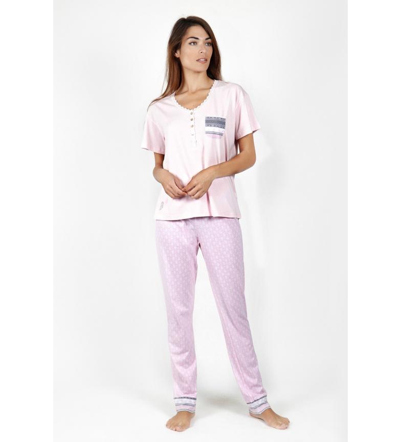 Comprar Admas Pyjamas Short Sleeve Small Dots pink
