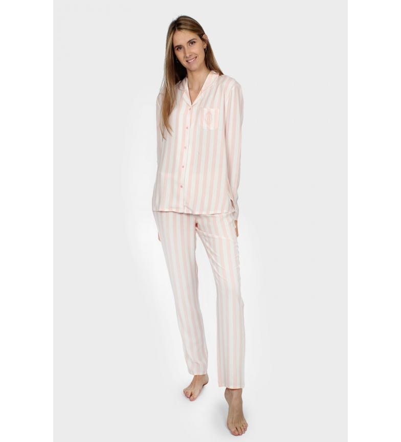 Comprar Admas Pyjama manches longues Open Classic Stripes rose