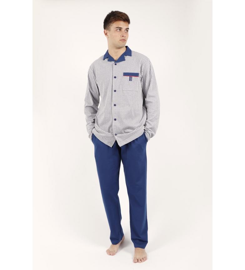 Comprar Admas Pyjama à manches longues Lame Grise
