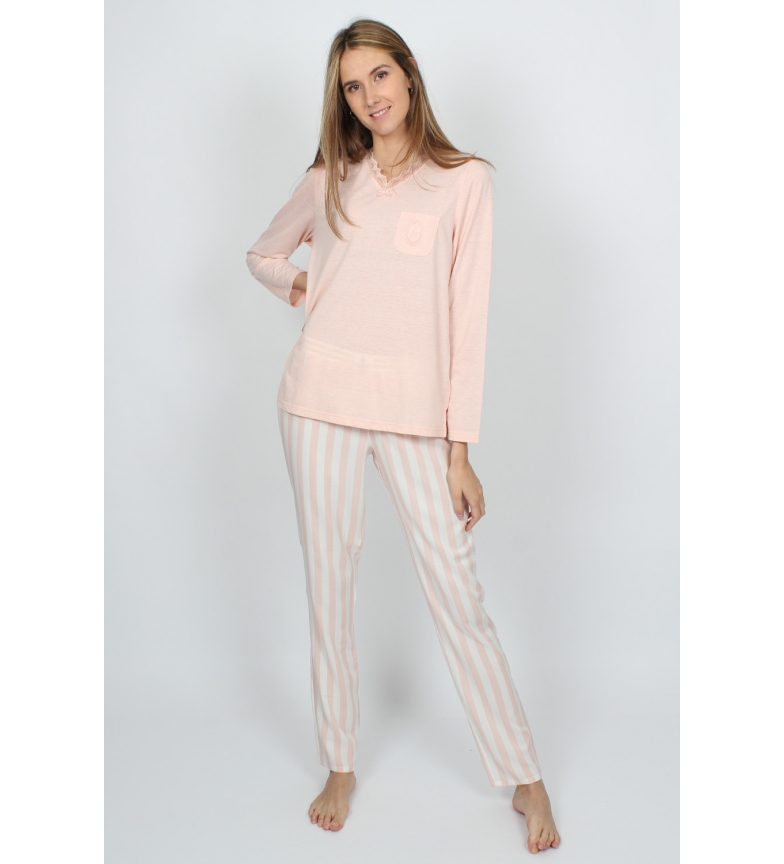 Comprar Admas Pajama Long Sleeve Classic Stripes pink