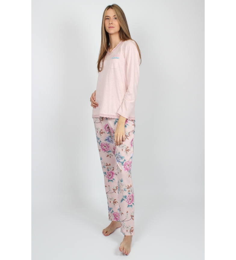 Comprar Admas Long Sleeve Pajamas Flowers & Birds beige
