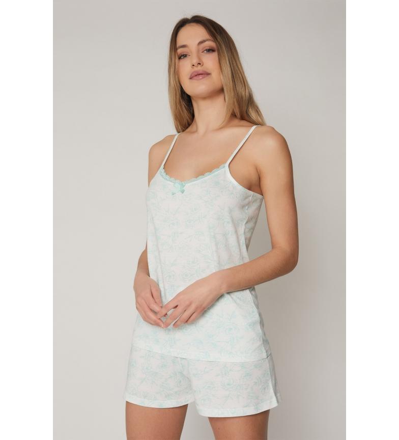 Comprar Admas Pajamas Summer Flowers Turquoise
