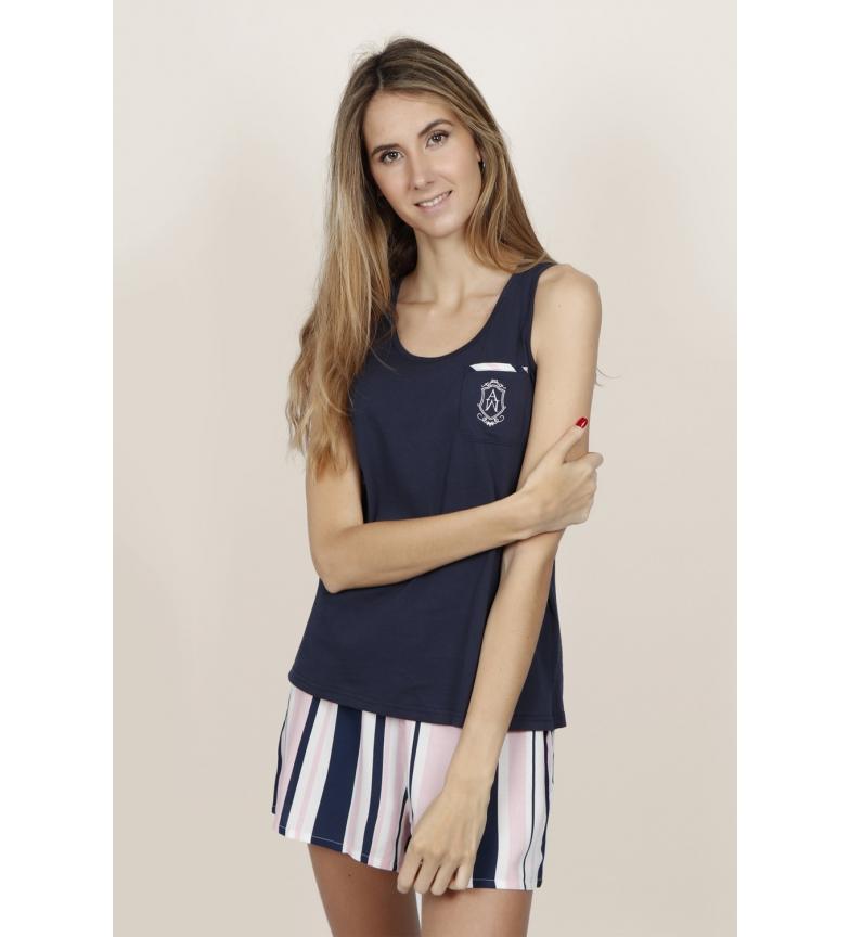 Comprar Admas Pijama Tirantes Summer Stripes marino