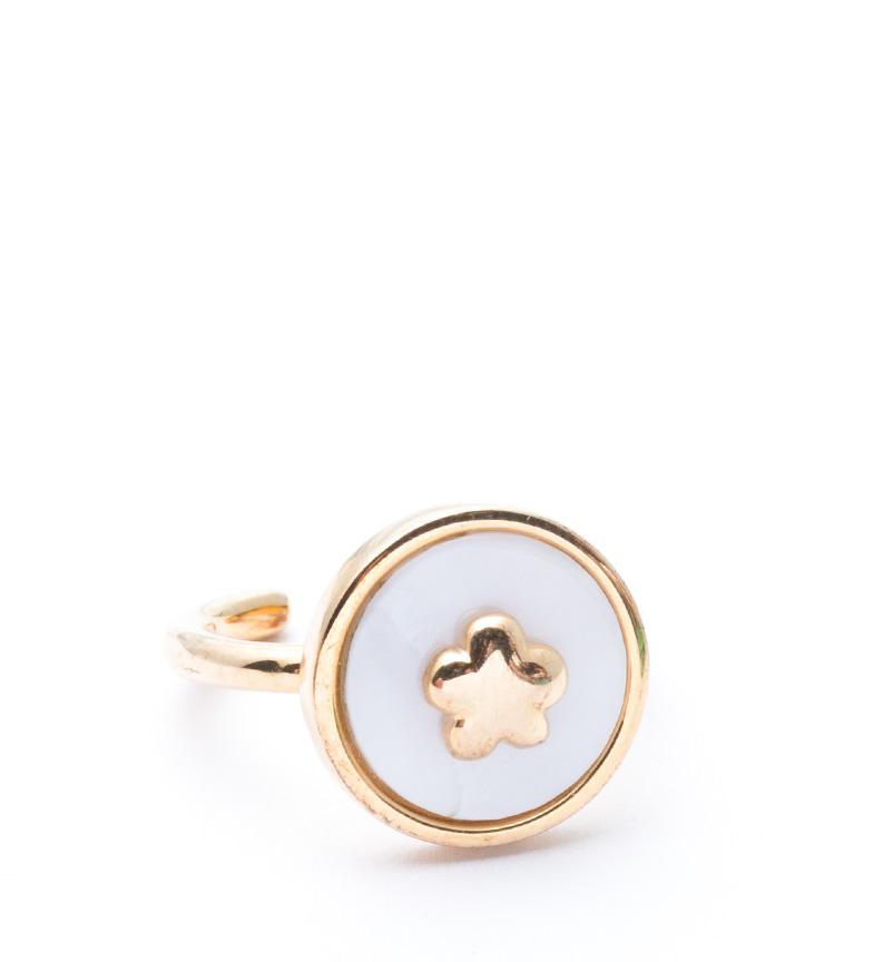 Comprar Agatha Ruiz De La Prada Silver ring with gold cover Flor en el Cielo