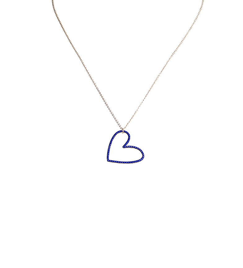 Comprar Agatha Ruiz De La Prada Necklace Cobalt heart Mami Carmela silver plated pink