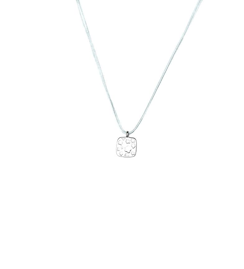 Comprar Agatha Ruiz De La Prada Necklace Ana square Flowers silver, green
