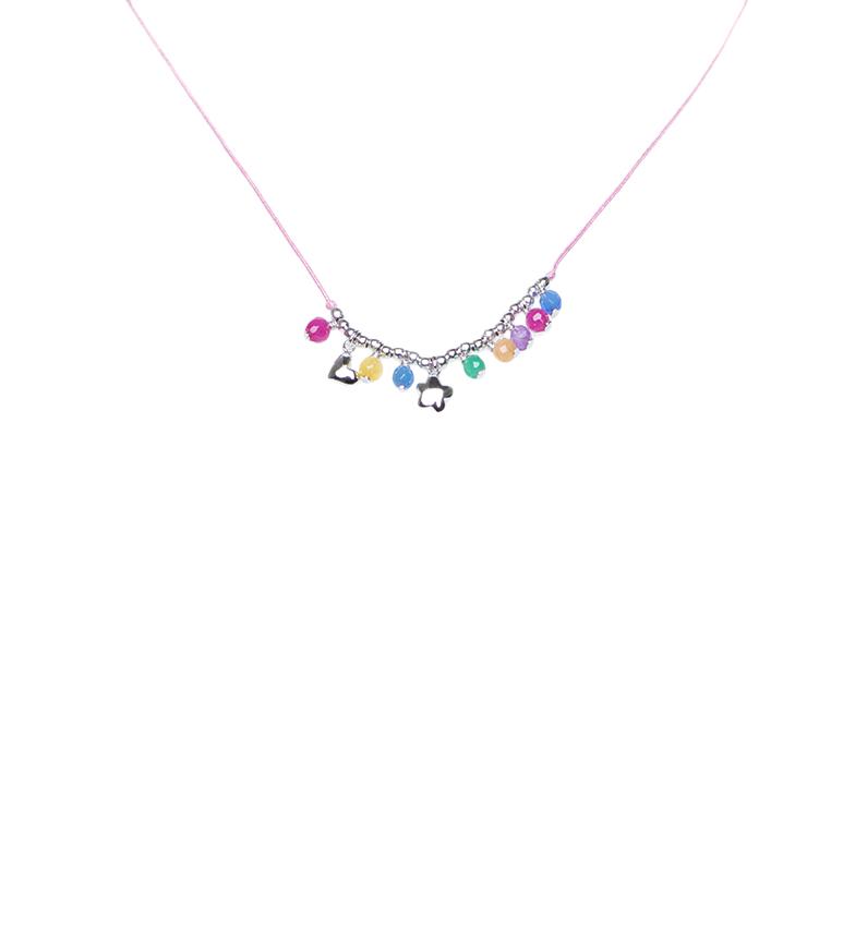 Comprar Agatha Ruiz De La Prada Collana con sfere indiane d'argento, rosa