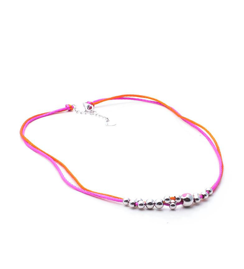 Comprar Agatha Ruiz De La Prada Silver balls necklace Balines Fucsia