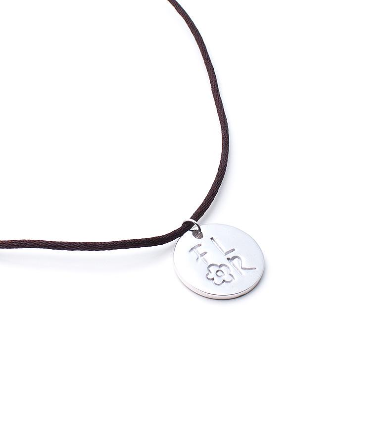 Comprar Agatha Ruiz De La Prada Collar con medallón de plata, raso Mensaje Flor