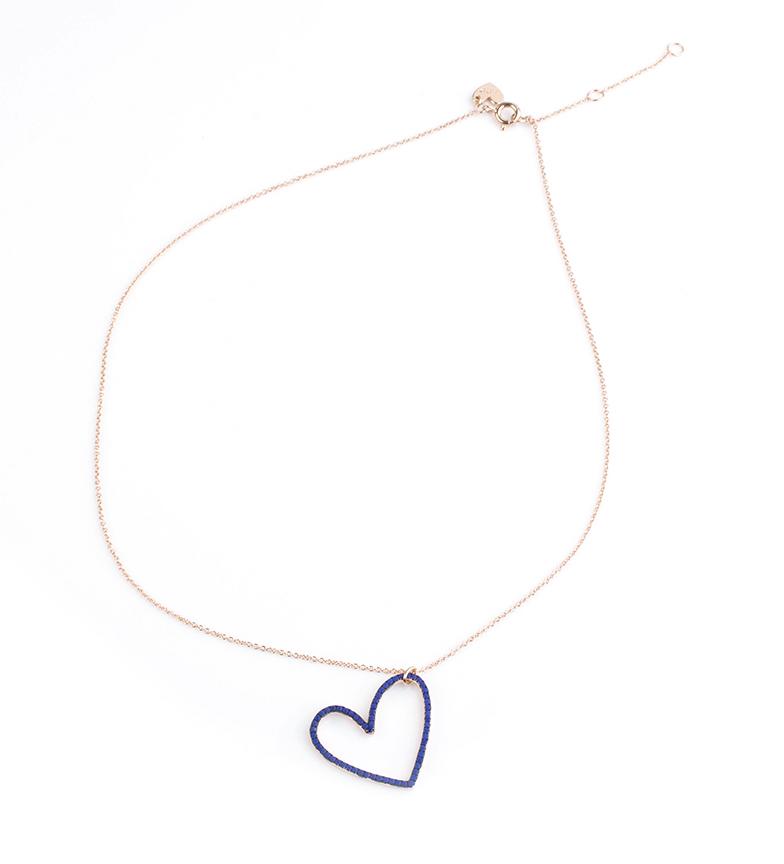 Comprar Agatha Ruiz De La Prada Collar de plata Corazón cobalto Mami Carmela plata chapada rosa