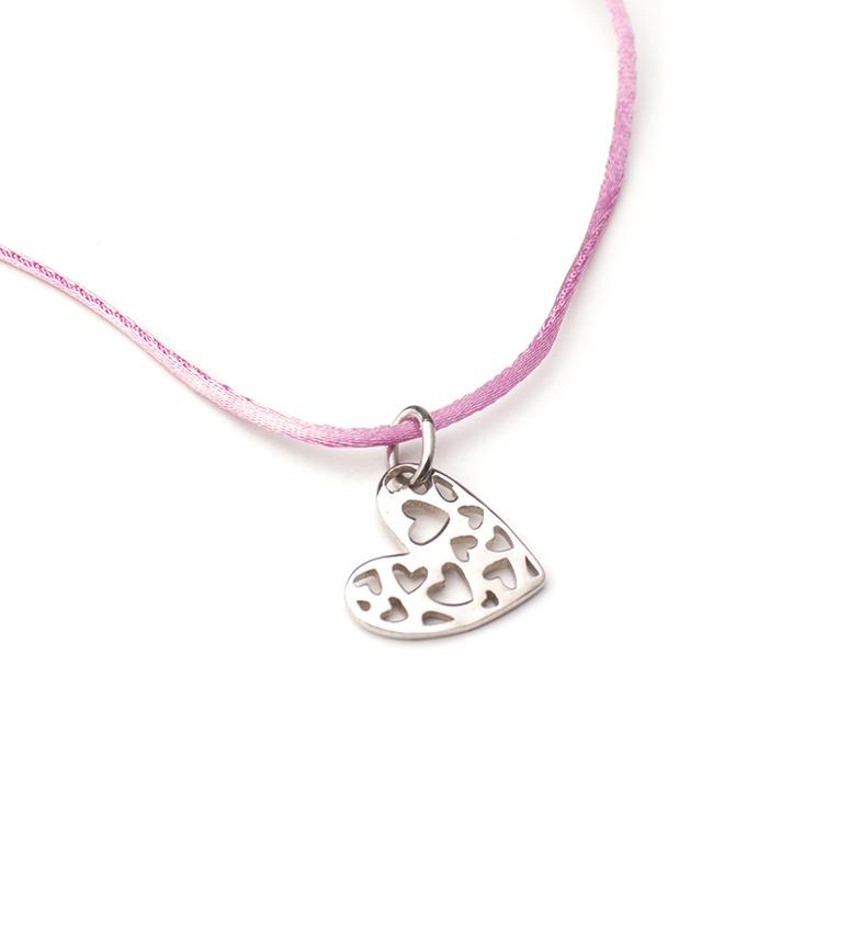 Comprar Agatha Ruiz De La Prada Collar de plata, raso Corazón Calado