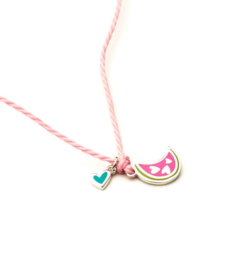 Comprar Agatha Ruiz De La Prada Collier en argent rose pastèque