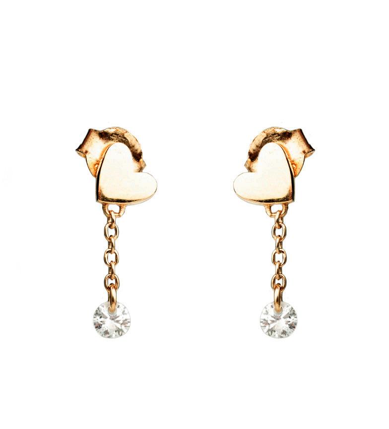 Comprar Agatha Ruiz De La Prada Boucles d'oreilles en argent plaqué or Tina coeur