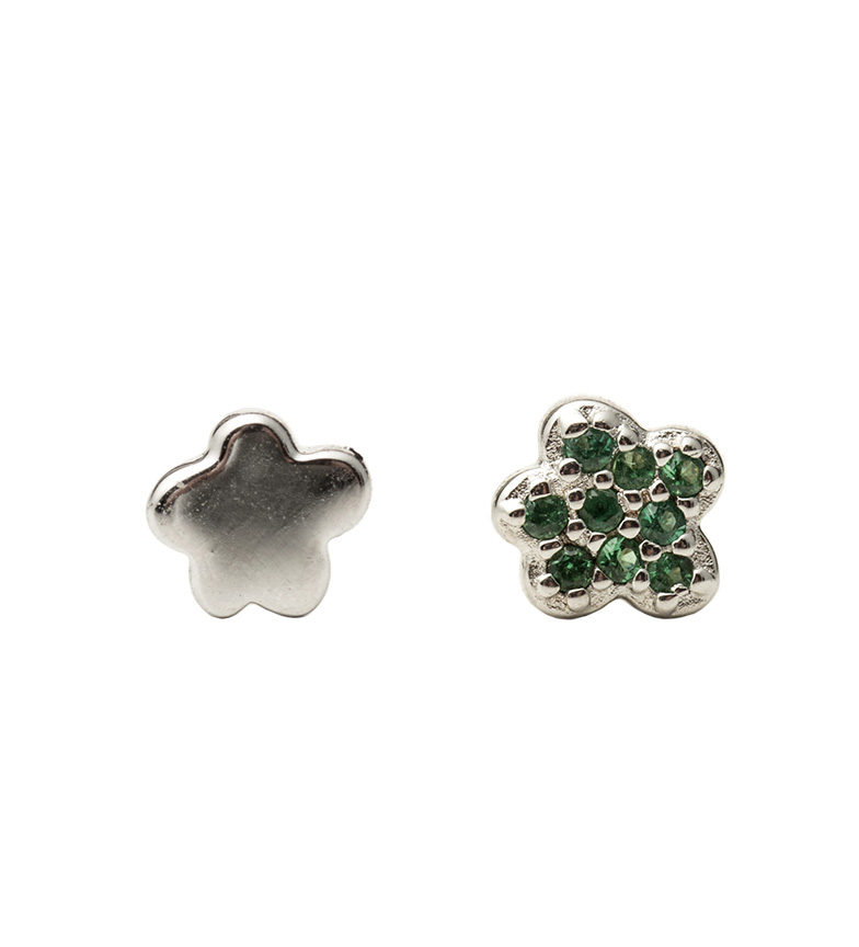 Comprar Agatha Ruiz De La Prada Pendientes de plata Estrella circonitas verde