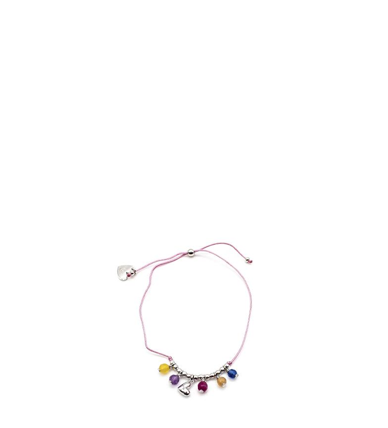 Comprar Agatha Ruiz De La Prada Bracciale sfere indiane argento, rosa