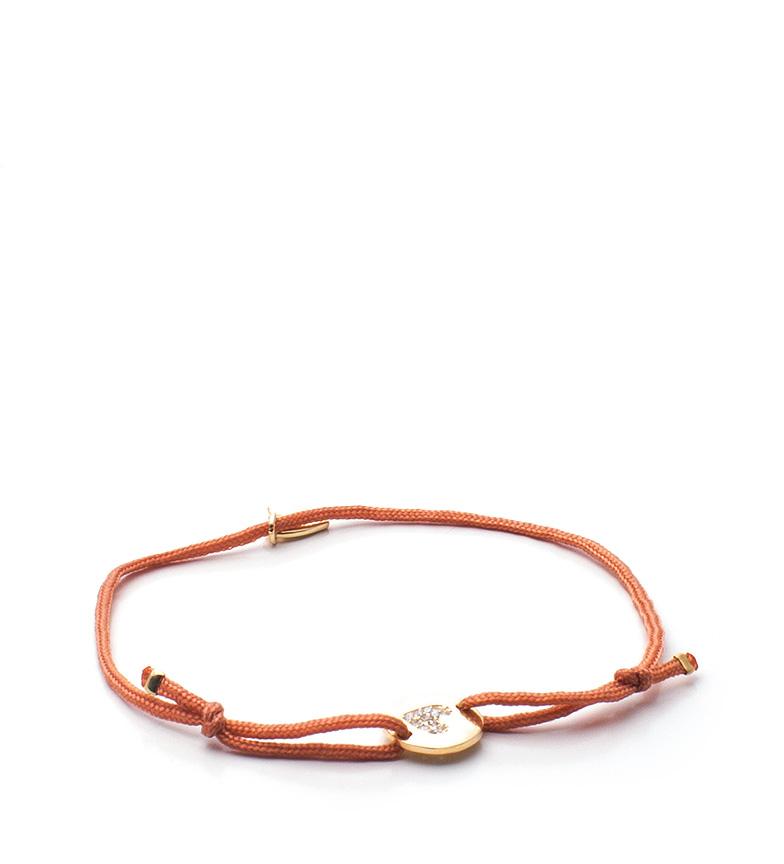 Comprar Agatha Ruiz De La Prada Bracelet d'argent avec couverture doré et satin Corazón Brillante
