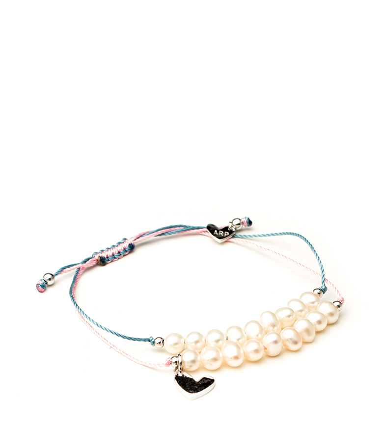 Comprar Agatha Ruiz De La Prada Pulsera de plata Perlitas azul, rosa