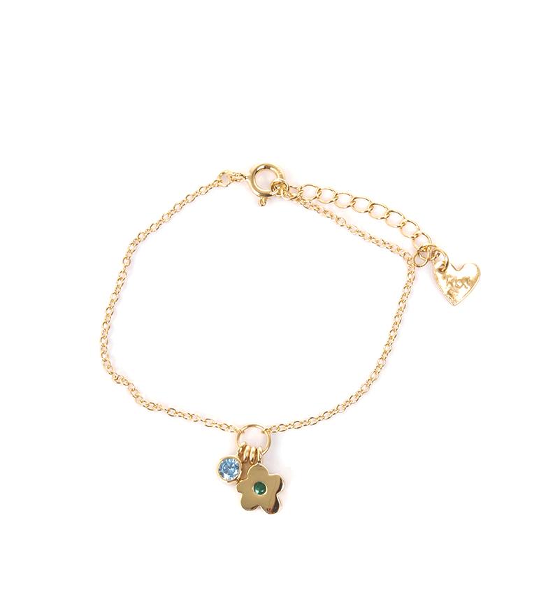 Comprar Agatha Ruiz De La Prada Bracciale in argento Fiore blu, oro