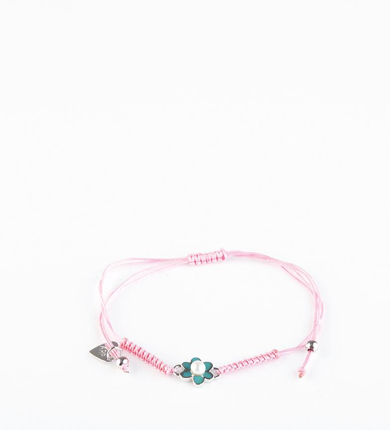 Comprar Agatha Ruiz De La Prada Pulseira Laia flor prateada, rosa