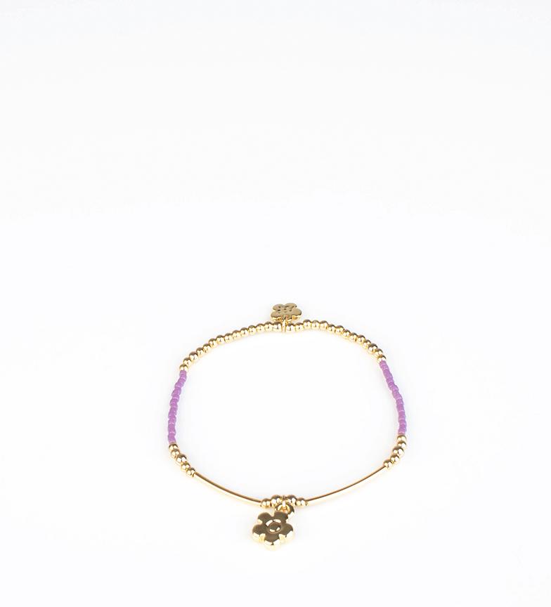 Comprar Agatha Ruiz De La Prada Pulseira Stela ouro, roxo