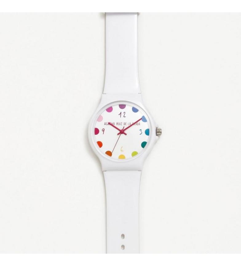 Comprar Agatha Ruiz De La Prada Large Flip Moles White Watch