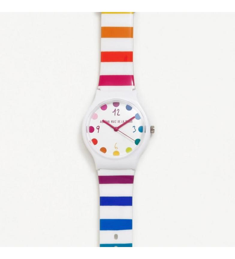 Comprar Agatha Ruiz De La Prada Analogical Flip Watch Wide Stripes White, Multicolor