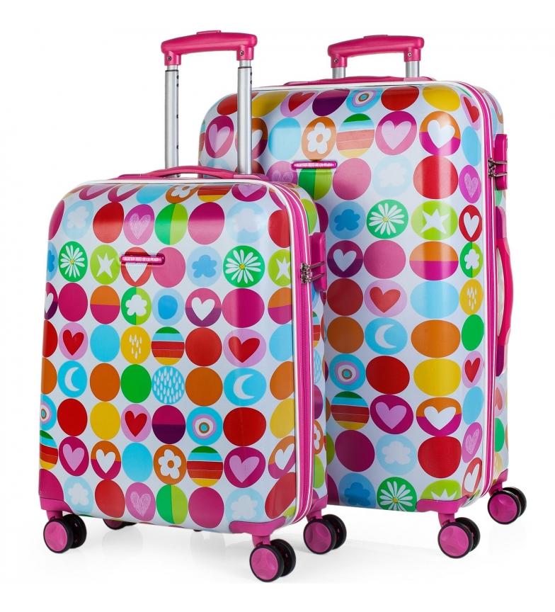 Comprar Agatha Ruiz De La Prada Set 2 Trolleys 50/60cm 56300 fuchsia -40x55x20cm/44x66x25cm