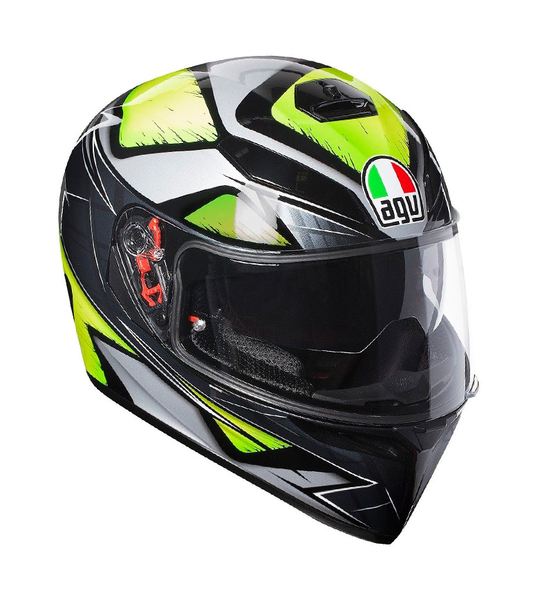 Comprar Agv Casco integral K-3 SV Liquefy grey, yellow -Pinlock-