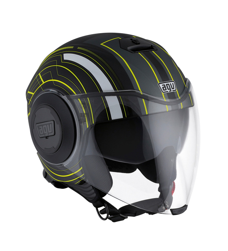 Comprar Agv Casco jet Fluid Chicago Matt black, yellow