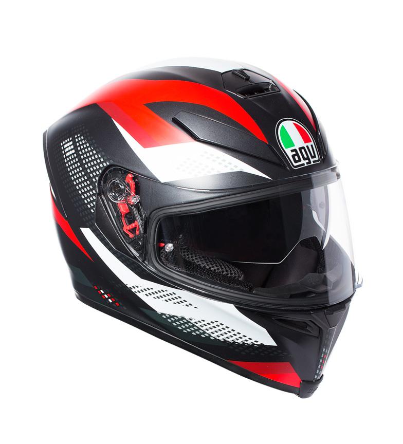 Comprar Agv Casco integral K-5 S Marble Matt black, white, red -Pinlock-