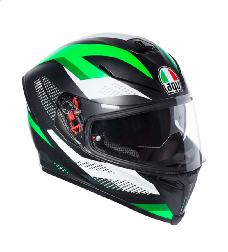 Comprar Agv Casco integral K-5 S Marble Matt black, white, green -Pinlock-