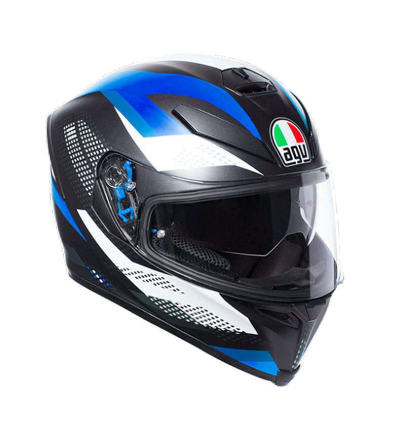 Comprar Agv Casco integral K-5 S Marble Matt black, white, blue -Pinlock-