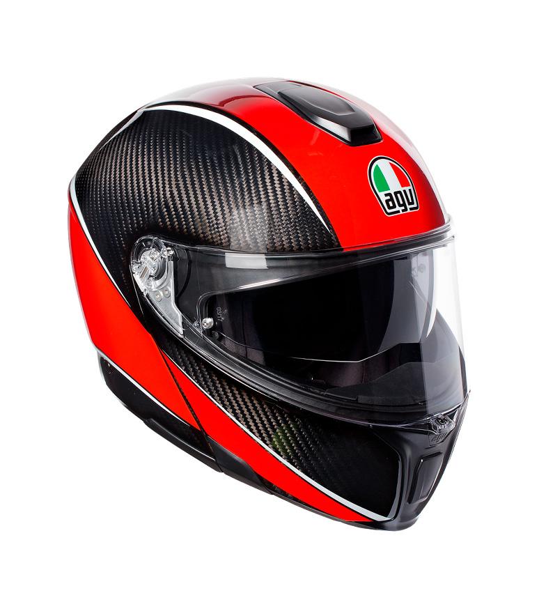Comprar Agv Casco SportModular aero carbon, red -Pinlock-