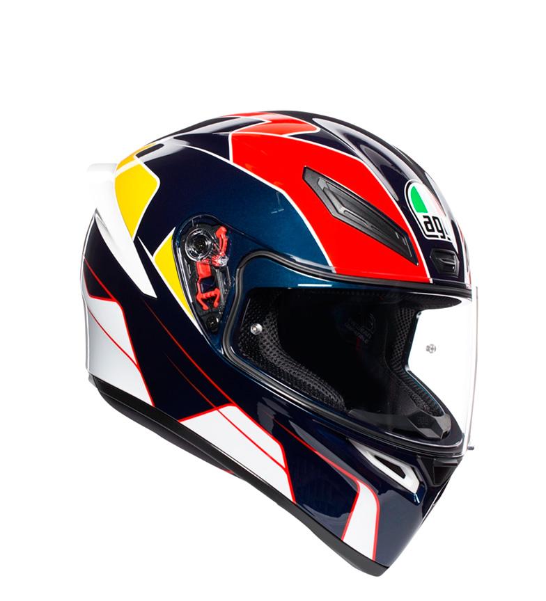 Comprar Agv Integral helmet K1 Pitlane blue, red, yellow
