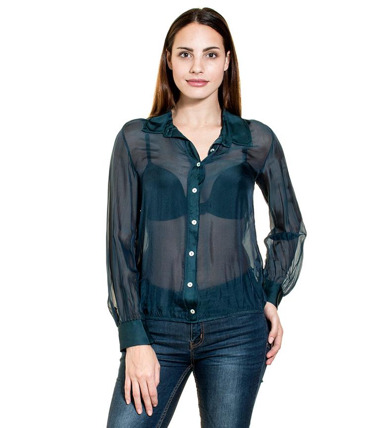 Almatrichi Camisa Dupioni negro
