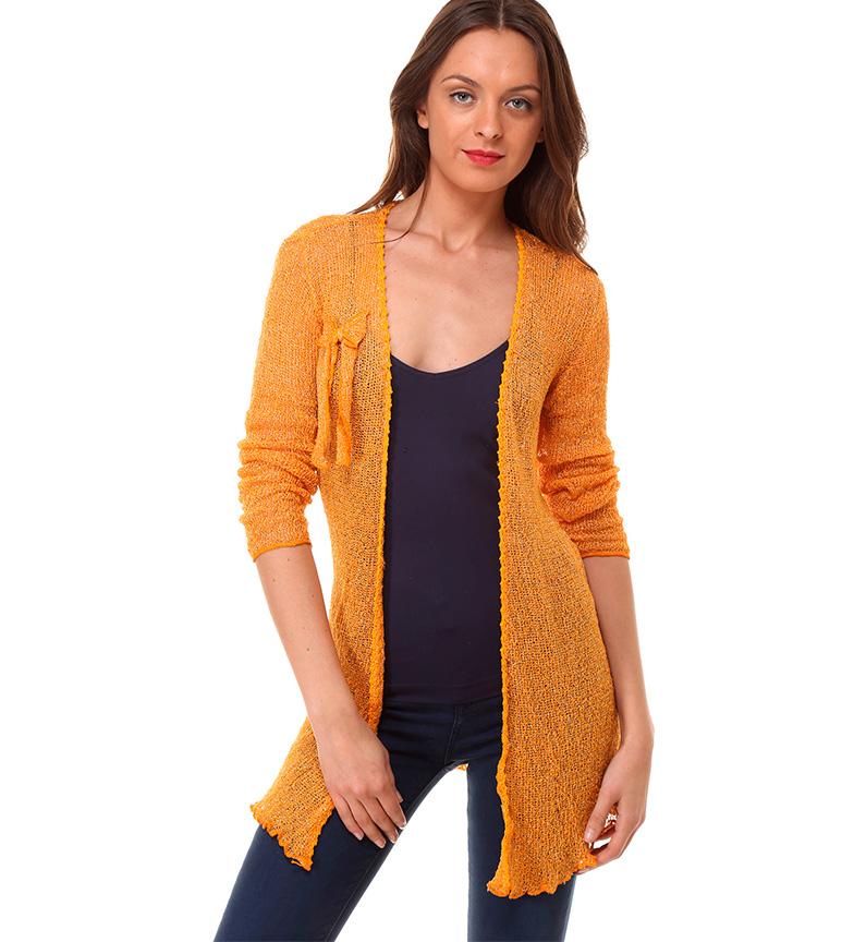 Comprar Almatrichi Roma cardigan laranja