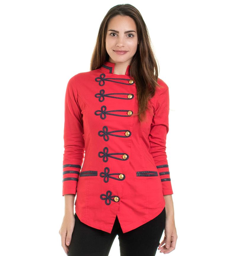 on sale bdd09 e8b89 Dettagli su Almatrichi - Volaris giacca rossa Donna Rosso Casual Cotone  Elastan Manica lunga