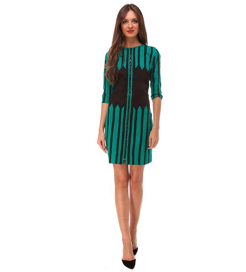 Almatrichi Vestido Branch verde