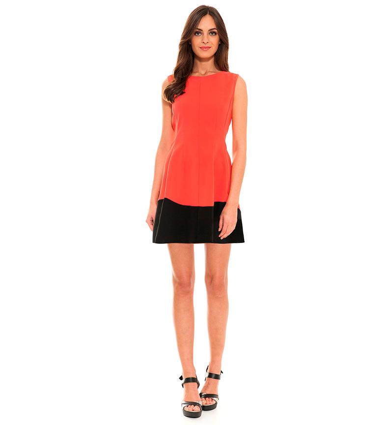 a3584a08c1 Almatrichi - Abito Lorena corallo Donna Casual Rosa Arancione ...