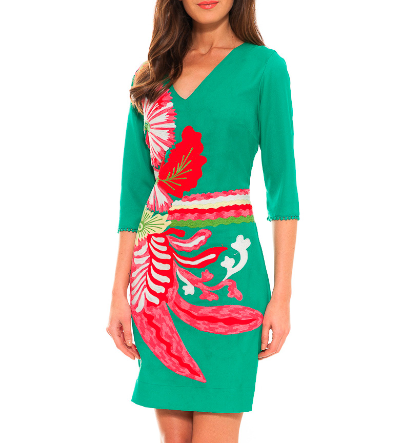 Almatrichi Vestido Thailand verde
