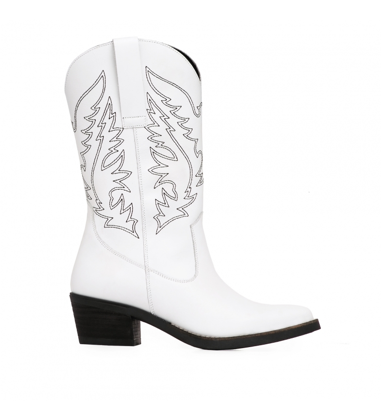 Comprar Amparo Infantes Stivali in pelle Am55 bianco - Altezza tacco: 5 cm