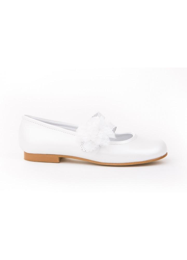 Comprar Angelitos Ballerina Ballerina Leather Flower Lace & Tulle Communion white