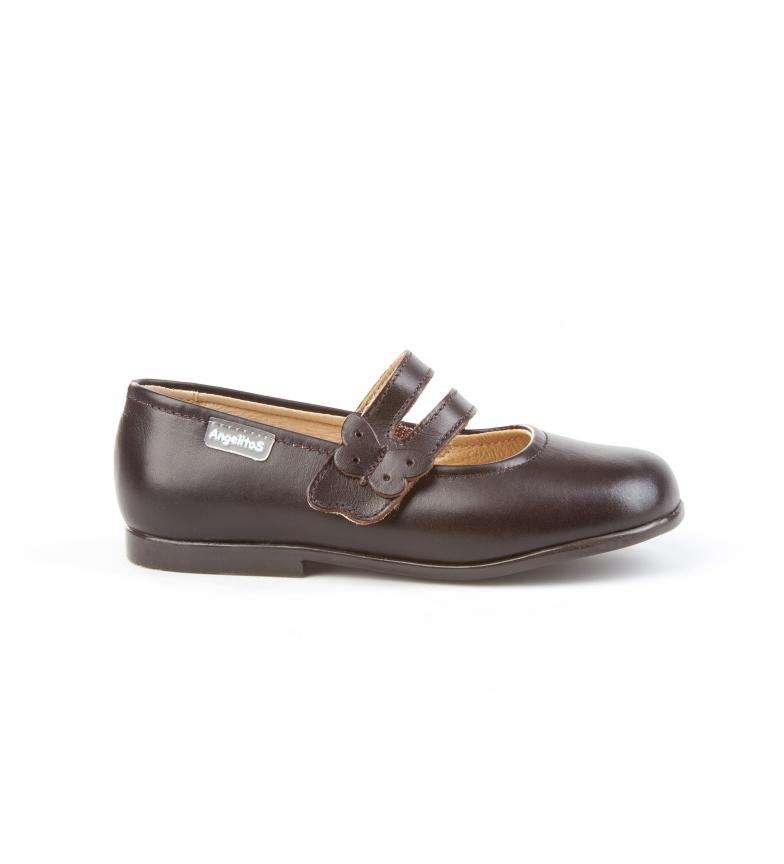 Comprar Angelitos Chaussures en cuir Merceditas marron