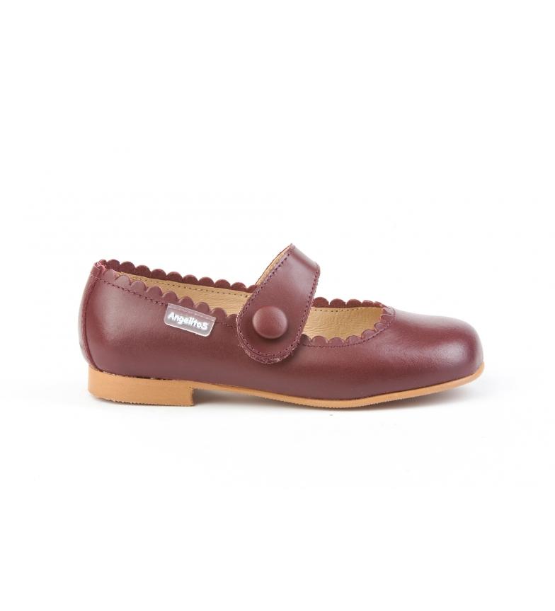 Comprar Angelitos French leather Napa Button burgundy