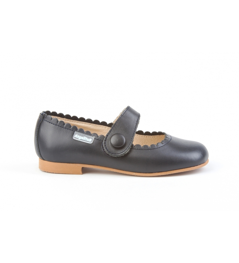 Comprar Angelitos French leather Napa Button marine
