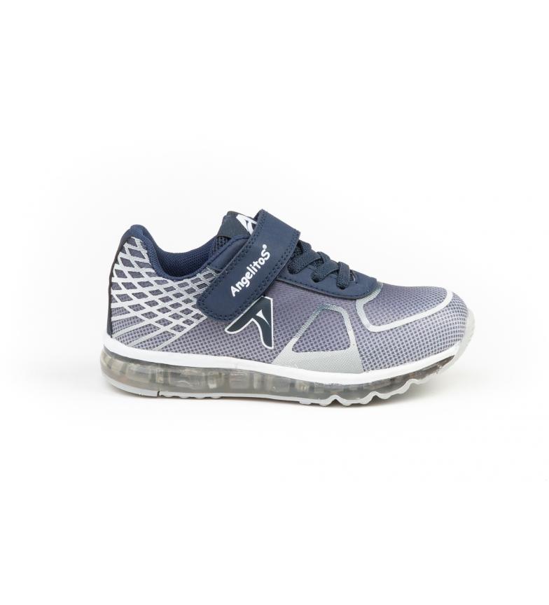 Comprar Angelitos Sapatos de aventura e luzes marinhas, prata