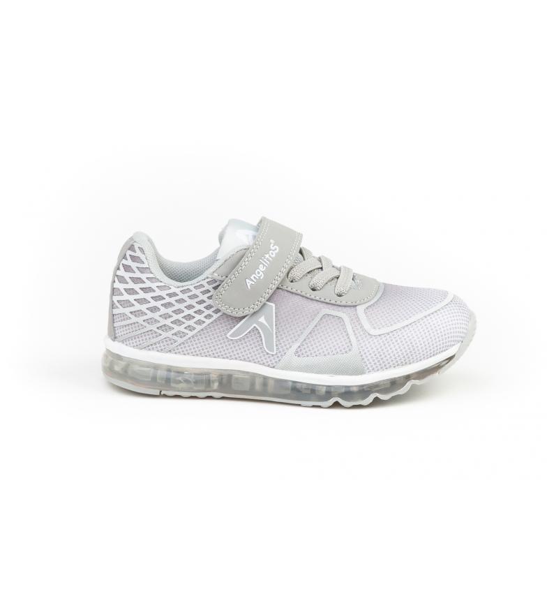 Comprar Angelitos Sapatos de Aventura & Luzes cinza, prata