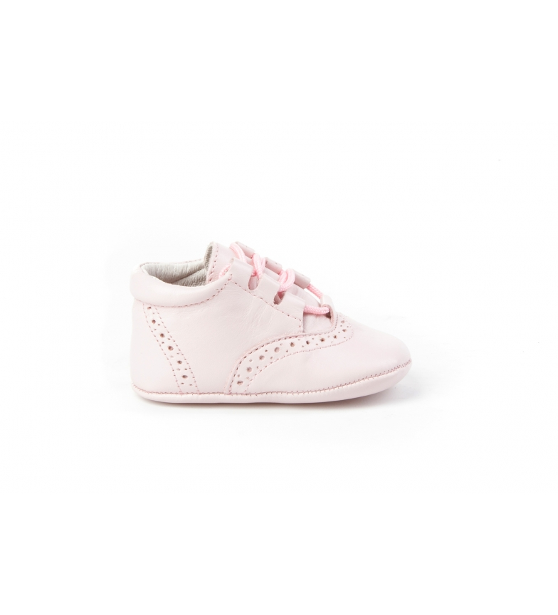 Comprar Angelitos Chaussure en cuir / rose layette anglaise