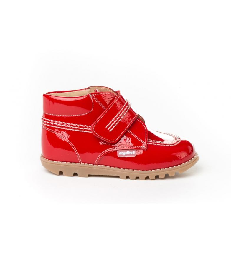 Comprar Angelitos Billy Charol botas de couro vermelho