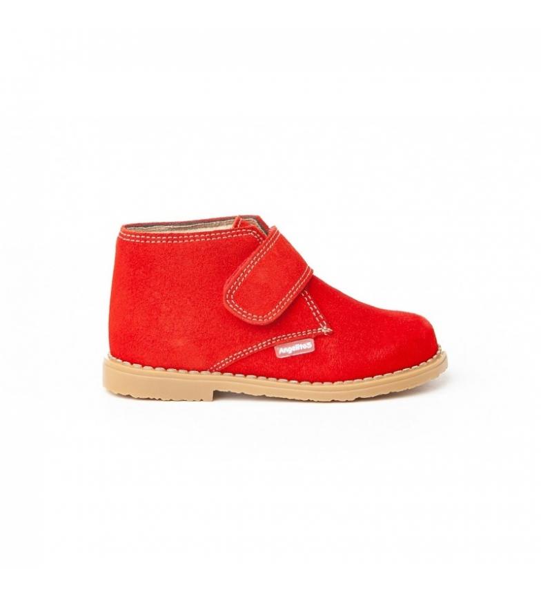 Comprar Angelitos Bottes en cuir Velcro rouge